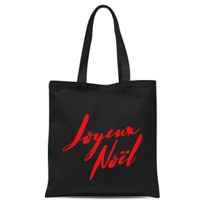 Joyeux Noel Holly Jolly International Tote Bag - Black