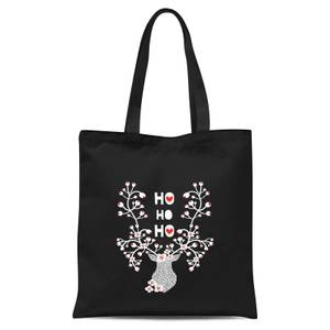 Ho Ho Ho Tote Bag - Black