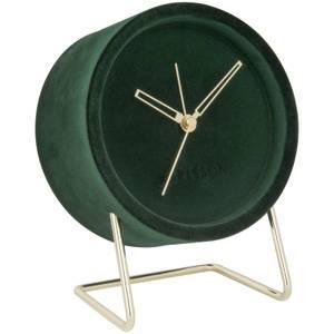 Karlsson Alarm Clock Lush Velvet - Dark Green