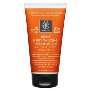 APIVITA Holistic Hair Care Shine & Revitalising Conditioner for All Hair Types - Orange & Honey 150 ml