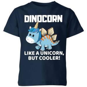 Big and Beautiful Dinocorn Kids' T-Shirt - Navy