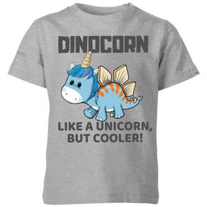 Big and Beautiful Dinocorn Kids' T-Shirt - Grey