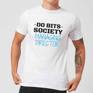Big and Beautiful Do Bits Managing Director Men's T-Shirt - White
