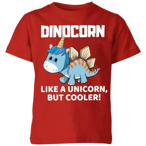 Big and Beautiful Dinocorn Kids' T-Shirt - Red