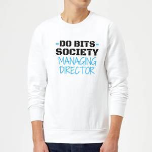 Big and Beautiful Do Bits Managing Director Sweatshirt - White