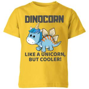 Big and Beautiful Dinocorn Kids' T-Shirt - Yellow