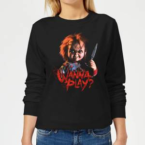 Chucky Wanna Play? Women's Sweatshirt - Black