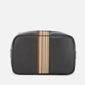 PS Paul Smith Men's Signature Stripe Wash Bag - Black Pebble