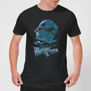 Universal Monsters The Invisible Man Illustrated Men's T-Shirt - Black