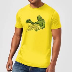 Universal Monsters Der Schrecken Vom Amazonas Retro Crest Herren T-Shirt - Gelb