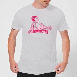 Universal Monsters Bride Of Frankenstein Crest Men's T-Shirt - Grey