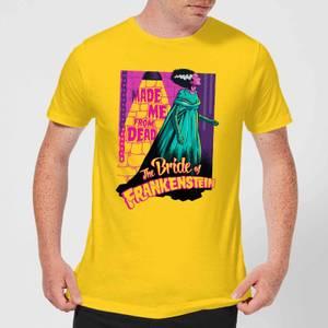 T-Shirt Homme Rétro La Fiancée de Frankenstein - Universal Monsters - Jaune