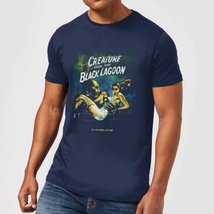 T-Shirt Homme L'Étrange Créature du lac noir Affiche Rétro - Universal Monsters - Bleu Marine
