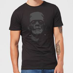 Universal Monsters Frankenstein Black and White Men's T-Shirt - Black