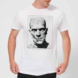 Universal Monsters The Mummy Portrait Men's T-Shirt - White