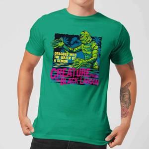 T-Shirt Homme L'Étrange Créature du lac noir Rétro - Universal Monsters - Vert