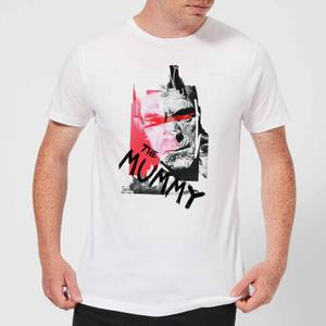Universal Monsters The Mummy Collage Men's T-Shirt - White