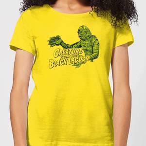 T-Shirt Femme L'Étrange Créature du lac noir - Universal Monsters - Jaune