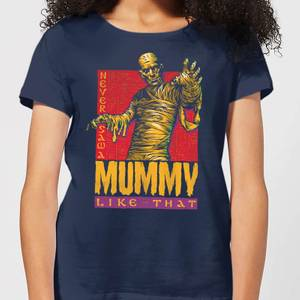 Universal Monsters The Mummy Retro Women's T-Shirt - Navy