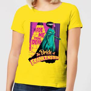 Universal Monsters Retro Bride Of Frankenstein Damen T-Shirt - Gelb