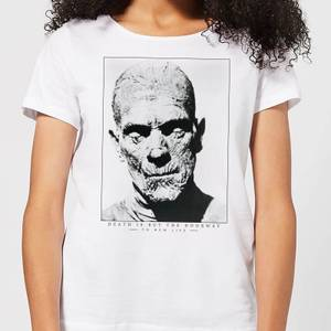 Universal Monsters The Mummy Portrait Women's T-Shirt - White