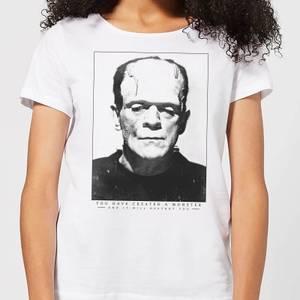 Universal Monsters Frankenstein Portrait Women's T-Shirt - White