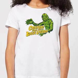 Universal Monsters Creature From The Black Lagoon Crest Women's T-Shirt - White
