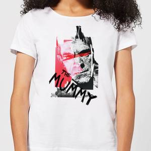 Universal Monsters The Mummy Collage Women's T-Shirt - White