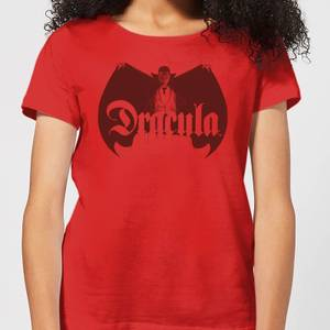 T-Shirt Universal Monsters Dracula Crest - Rosso - Donna