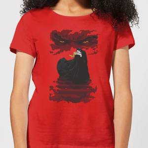 T-Shirt Universal Monsters Dracula Illustrated - Rosso - Donna