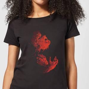Universal Monsters Der Wolfsmensch Illustrated Damen T-Shirt - Schwarz