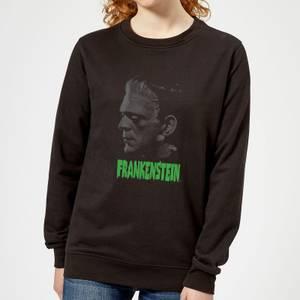 Universal Monsters Frankenstein Greyscale Women's Sweatshirt - Black