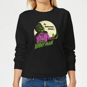 Universal Monsters The Wolfman Retro Women's Sweatshirt - Black