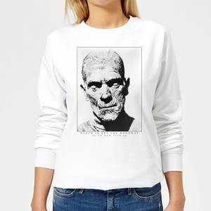 Universal Monsters The Mummy Portrait Women's Sweatshirt - White