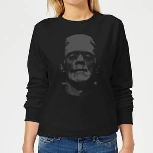 Universal Monsters Frankenstein Schwarz And Weiß Damen Pullover - Schwarz