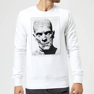 Universal Monsters The Mummy Portrait Sweatshirt - White