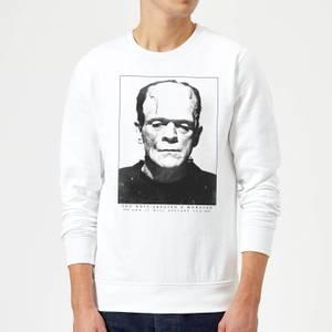 Sweat Homme Frankenstein Portrait - Universal Monsters - Blanc