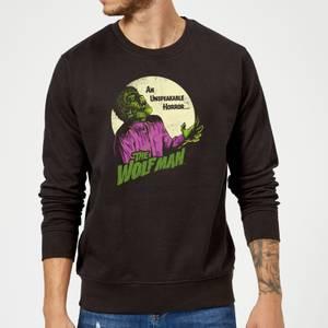 Sweat Homme The Wolfman Rétro - Universal Monsters - Noir