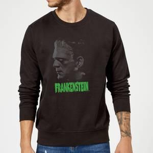 Universal Monsters Frankenstein Greyscale Sweatshirt - Black