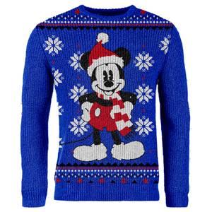 Maglione Natalizio Mickey Mouse - Blue