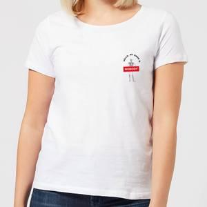 Halloween Hello, My Name Is Nobody Women's T-Shirt - White