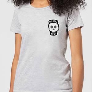 Halloween Skull Current Mood Women's T-Shirt - Grey