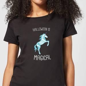 Halloween Unicorn Skeleton Women's T-Shirt - Black