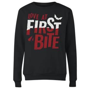 Love At First Bite Women's Sweatshirt - Black