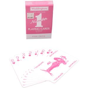 Waddingtons Number 1 Playing Cards - Pink Edition