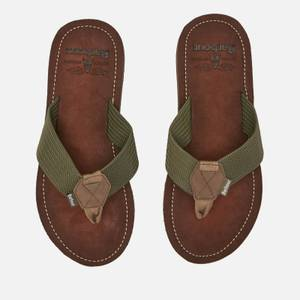 Barbour Men's Toeman Beach Toe Post Sandals - Olive