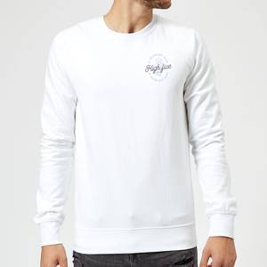 If You're Not Alive, High Five Sweatshirt - White