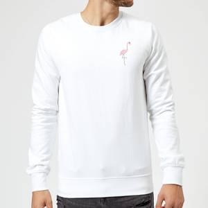 Flamingo Skeleton Sweatshirt - White