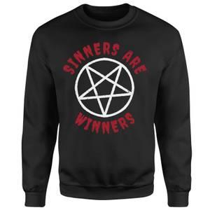 Sinners Are Winners Sweatshirt - Black