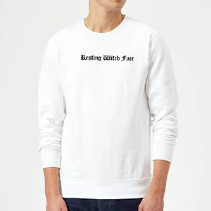 Resting Witch Face Sweatshirt - White